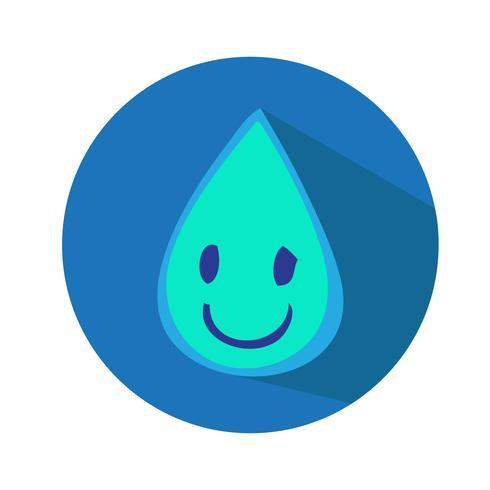 Goutte d'eau icône illustration vectorielle