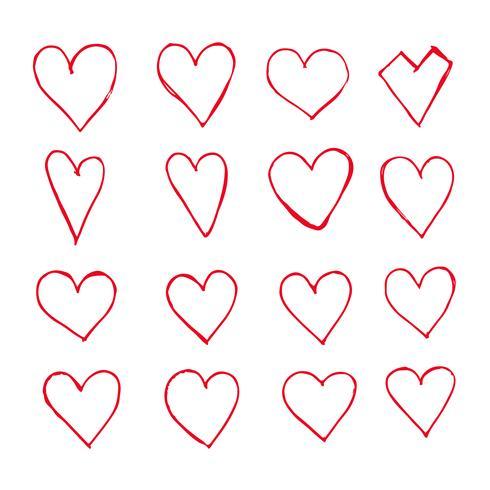 Icône de coeurs dessinés à la main