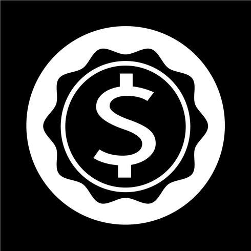 Icono de signo de dólar vector
