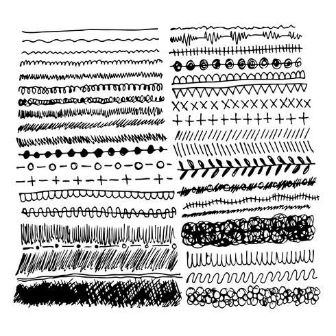 Hand drawn ink sketch line
