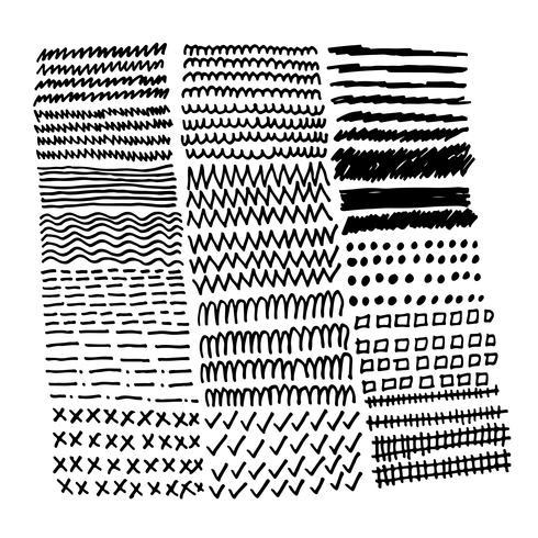 Hand drawn doodle sketch line vector