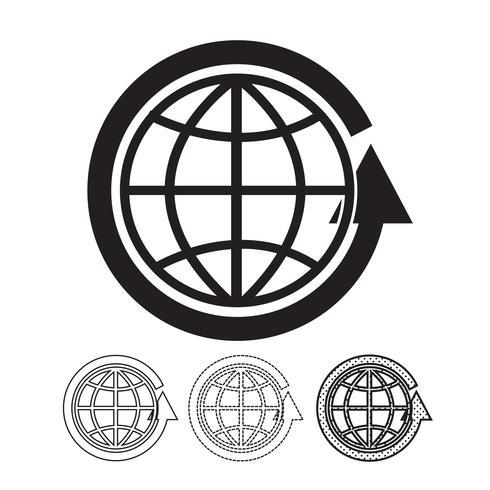 Icona di vettore del globo