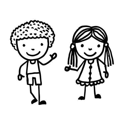 hand drawn kid cartoon