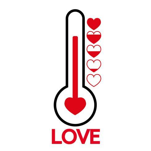 Idea della carta di San Valentino Misuratore di amore