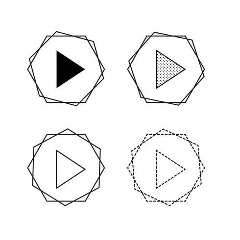 Vektor pil ikon illustration