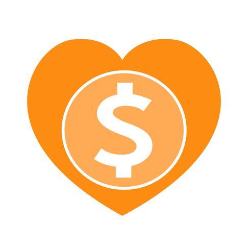 Icona dei soldi del segno del dollaro