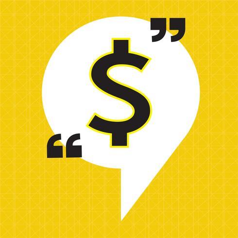 Dollar tecken pengar ikon
