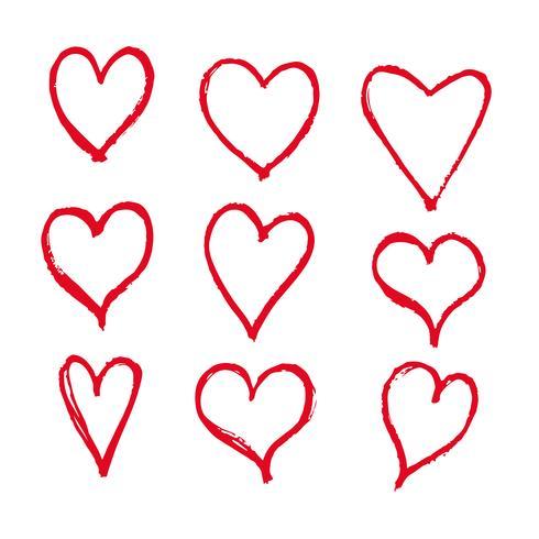 Icono de corazones dibujados a mano