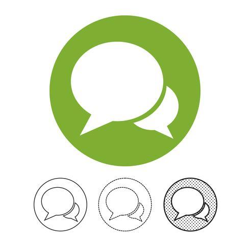 speech bubble chat vector icon