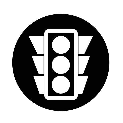 Icono de semáforo vector