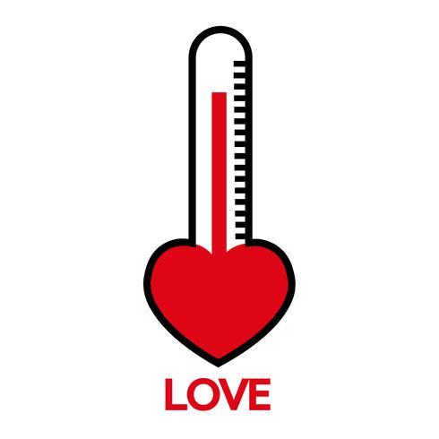 Idea de tarjeta de San Valentín Love meter vector