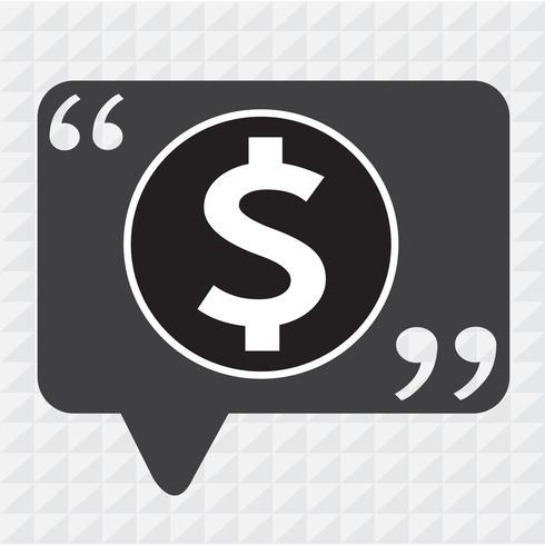 Icono de signo de dólar de dinero vector