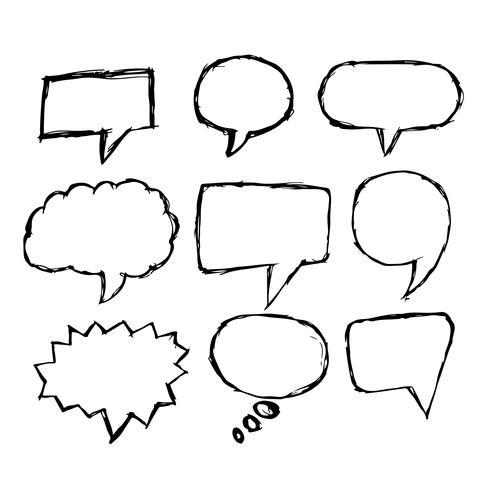 Burbuja del discurso icono dibujado a mano