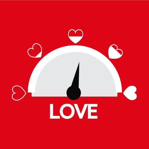 Valentine's day card idea Love meter
