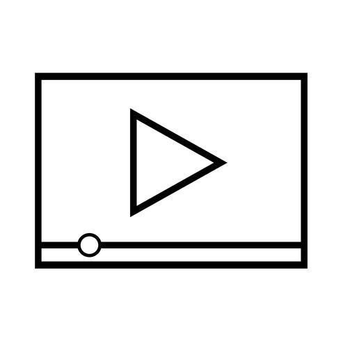 Icono de reproducción de video vector