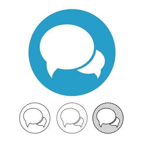 icono de vector de chat de burbujas de discurso