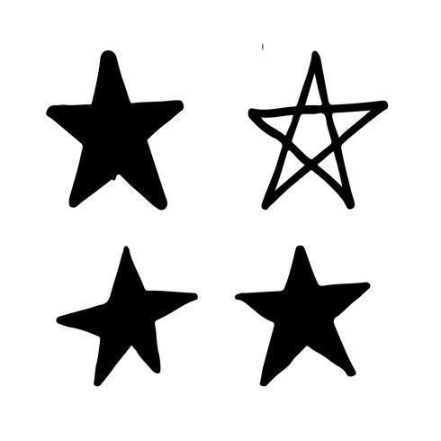 Dibujado a mano estrella Doodle vector