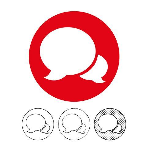 icône de vecteur pour le chat bulle