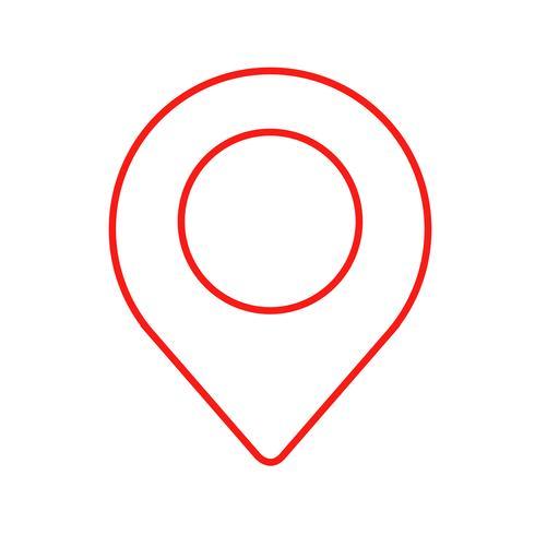icona del pin di posizione
