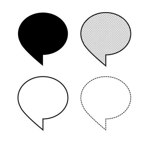 Spraak bubbels pictogram vector