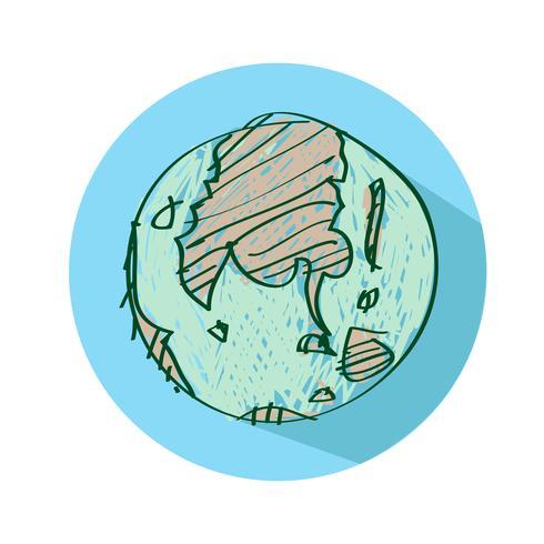 Icône de vecteur de globe terrestre