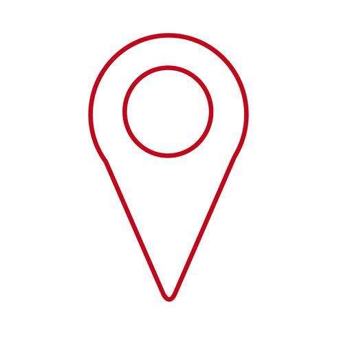 icono de pin de ubicación vector