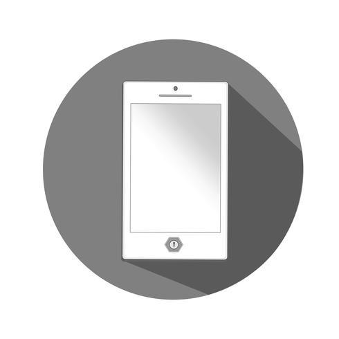 Ilustración de icono de vector de smartphone