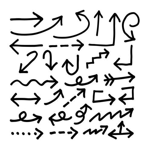 Dibujado a mano icono de flecha vector