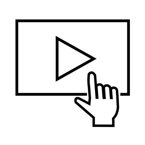 ícone de reprodução de transmissão de vídeo