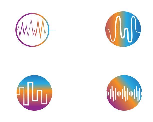 onde sonore ilustration logo vector icon template