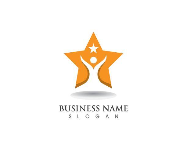 Sternerfolg Logo und Symbosl Vektor Vorlage