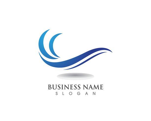 Logotipo y símbolo de Wave Beach vector