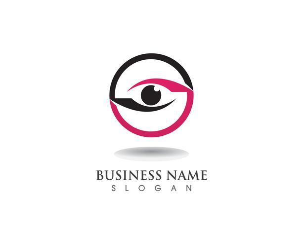 Logotipo e símbolo do cuidado de olho