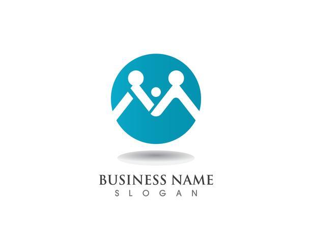 Adopción de logotipo y la comunidad icono de vector de plantilla