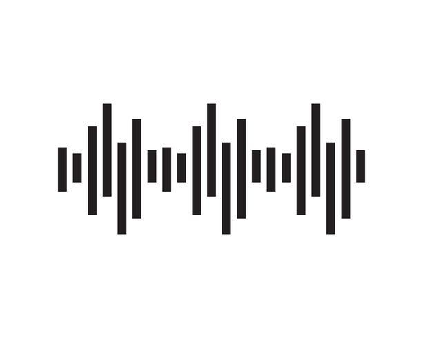 Schallwelle Illustration Logo Vektor Icon Vorlage