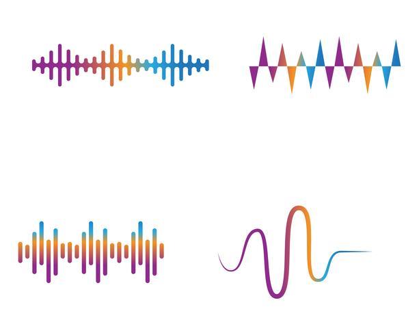 plantilla de icono de vector de onda onda ilustración logotipo