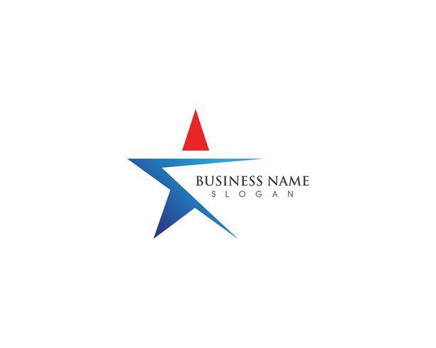 Logotipo de sucesso estrela e modelo de vetor symbosl