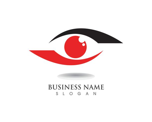 Logotipo y símbolo para el cuidado de los ojos. vector