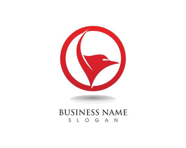 Falke Eagle Bird Logo Template-Vektorikonenflügel