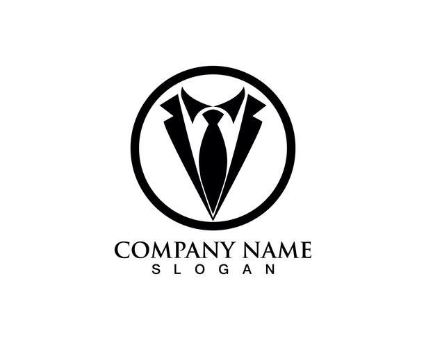 Modello di smoking uomo logo e simboli icone nere