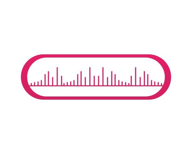 Ola música nota símbolos logo e iconos vector