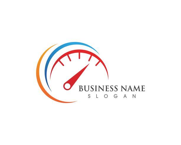 Illustrazione più veloce dell'icona di vettore del modello di logo