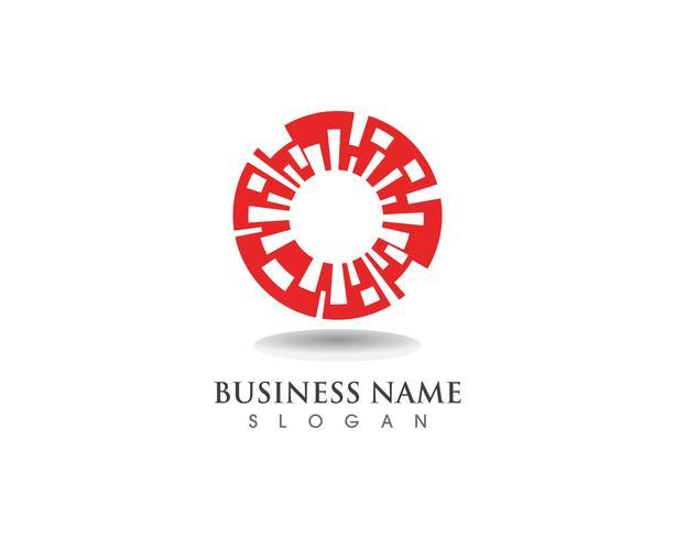 vortex cirkel logo en symbolen sjabloon