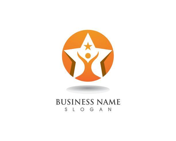 Logotipo de Star Success y plantilla de vector de Symbosl