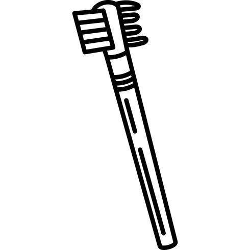 Cepillo de cejas y peine icono Vector