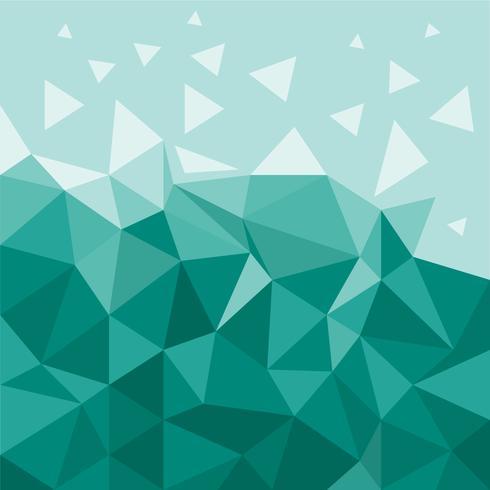 Fondo abstracto poligonal vector
