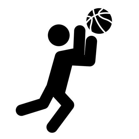 Baloncesto Catch Icon Vector