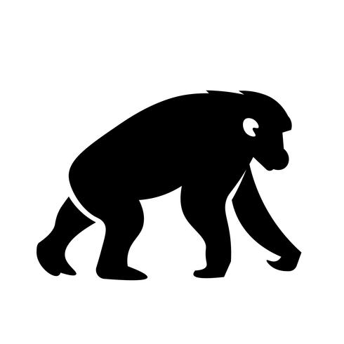 Chimpanzee Icon Vector