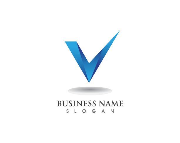 V logo business and symbols template
