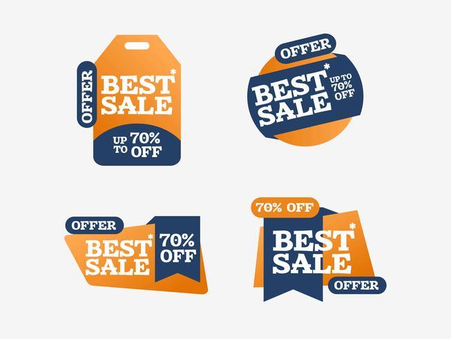 Cool mejor venta comercial etiqueta vector cintas creativas